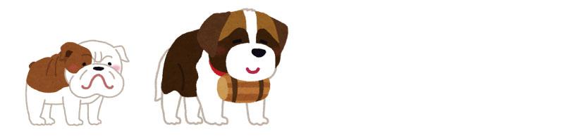 フリスビードッグに向いていない犬のイラスト