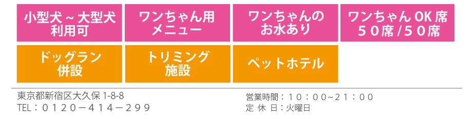愛犬ヴィレッジ東新宿店【ビストロラブドッグ】情報