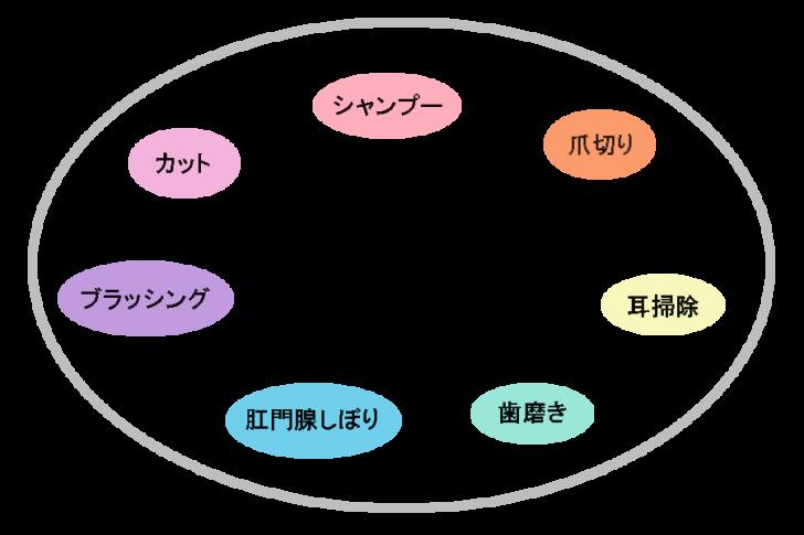 グルーミングの表